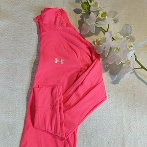 Pink Under Armour Half Zip Pull Over
